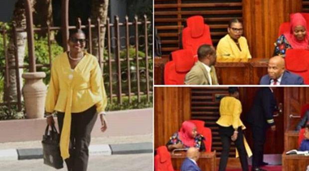 woman m p removed from parliament for wearing tight fitting dress in tanzania